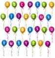alphabet balloons vector image vector image