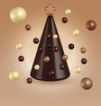 Chocolate christmas tree decorations vector