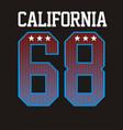 athletic california vector image