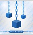 blockchain technology concept cubic nodes vector image