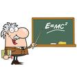 Happy Caucasian Science Professor vector image