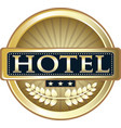 hotel gold icon vector image