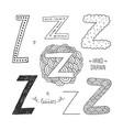 Letter Z vector image
