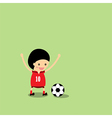 Little Boy in Soccer Gear About vector image
