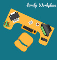 Office or freelancer workplace vector image