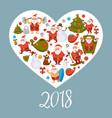 santa clauses with gift bag christmas tree and vector image