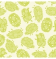 Seamless pattern with decorative hedgehogs Cute vector image