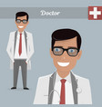 young happy doctor glasses vector image