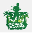 Trail Running vector image vector image