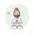 yoga man namaste vector image