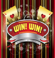 Gambling emblem vector image vector image