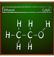 Ethanol molecular formula vector image