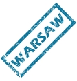 Warsaw rubber stamp vector image