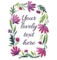 watercolor floral frame Great for wedding vector image
