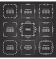 Vintage square frames set on chalkboard vector image