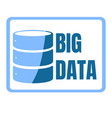 big data machine algorithms minimalistic design vector image