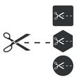 Cut icon set monochrome vector image