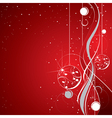 red sparkling background vector image