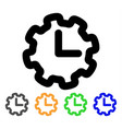 time setup stroke icon vector image