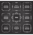 Vintage square frames set on chalkboard vector image