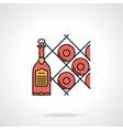 Wine cellar flat color icon vector image