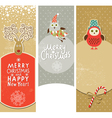 Set of Christmas and New Year banners vector image vector image