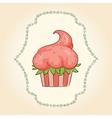 cupcake look like strawberry vector image