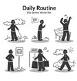 daily routine activities set vector image vector image