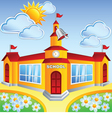 Cartoon school building vector image