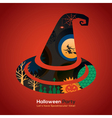 Halloween Party witch hat vector image vector image