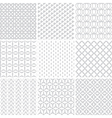 monochrome patterns vector image