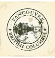 Grunge rubber stamp with Vancouver British vector image vector image