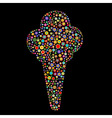 ice cream shape vector image vector image