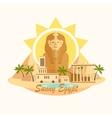 Pyramid Sphinx Egypt destination travel city vector image