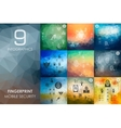 fingerprint infographic with unfocused background vector image