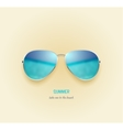beach sea and sky reflection sunglasses vector image
