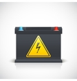 Car battery front view vector image