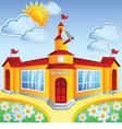 cartoon school building vector image