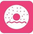 Doughnut sprinkled vector image