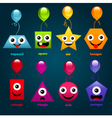Fun Party Shapes vector image