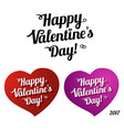 lettering - happy valentines day vector image