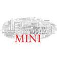 mini word cloud concept vector image