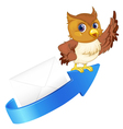 owl arrow and envelop vector image