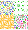 pattern set with colorful cartoon stars vector image