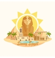 Pyramid Sphinx Egypt destination travel city vector image