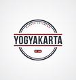 yogyakarta badge indonesia label theme vector image