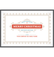Christmas postcard ornament decoration background vector image vector image