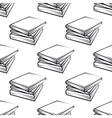 Seamless books pattern vector image vector image