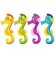 Sea horses vector image vector image