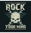 Rock t-shirt Typography vector image